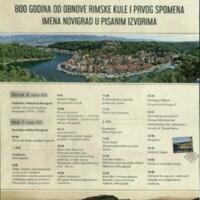 800 godina od obnove rimske kule i prvog spomena imena Novigrad u pisanim izvorima