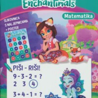 Nauči matematiku : Enchantimals : slikovnica s naljepnicama + poster