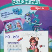 Nauči pisati : Enchantimals : slikovnica s naljepnicama + poster
